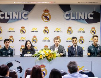 Exness และ Real Madrid จัดกิจกรรมคลินิกฟุตบอล