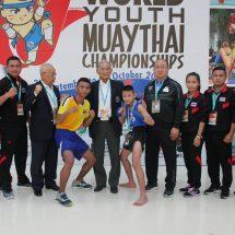 ดร.ศักดิ์ชาย แสดงความยินดี 2 นักมวยไทยเยาวชน ทีมชาติไทยที่ผ่านรอบแรก