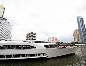 """""""วันเดอร์ฟูลเพิร์ล"""" เรือท่องเที่ยวแม่น้ำเจ้าพระยา ลำหรูของไทย สุดฮอตช่วงโกลเด้นวีค  ชาวจีนหยุดงานฉลองวันชาติ แห่จองคิวยาวเหยียด"""